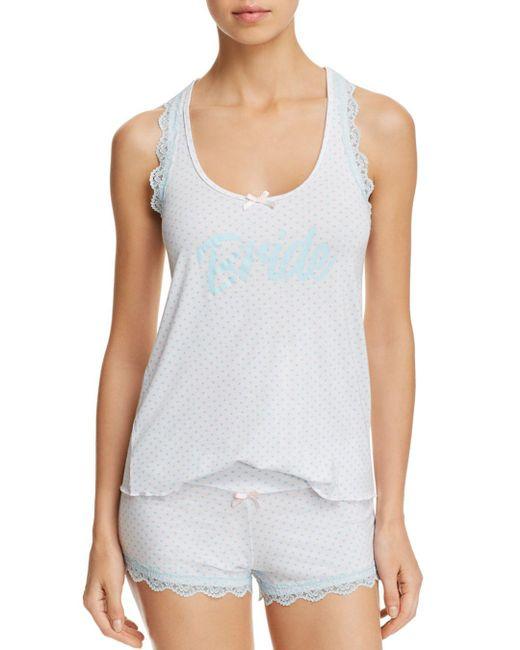 Honeydew - White All American Shortie Pajama Set - Lyst
