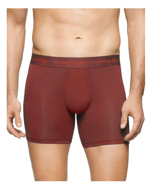 Calvin Klein | Red Body Modal Boxer Briefs for Men | Lyst
