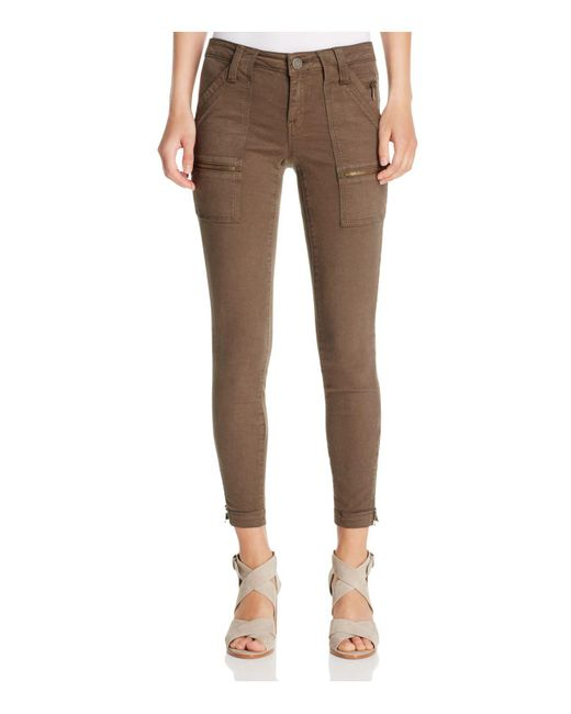 Joie | Brown Park Skinny Ankle Zip Pants | Lyst