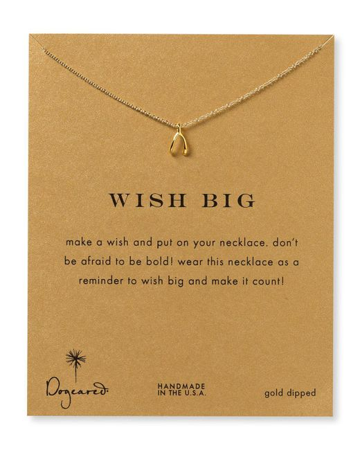 Dogeared | Metallic Wish Necklace, 18"