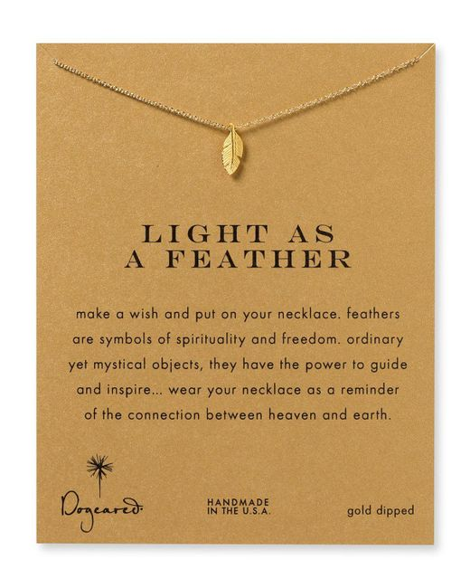 Dogeared | Metallic Light As A Feather Necklace, 18"