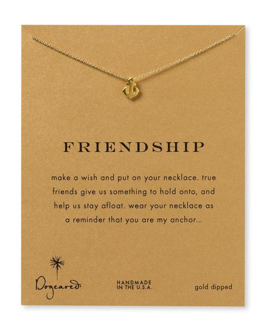 "Dogeared   Metallic Friendship Anchor Necklace, 18""   Lyst"