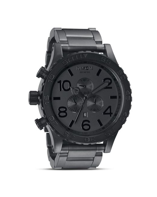 Nixon | Black 'the 51-30 Chrono' Watch for Men | Lyst