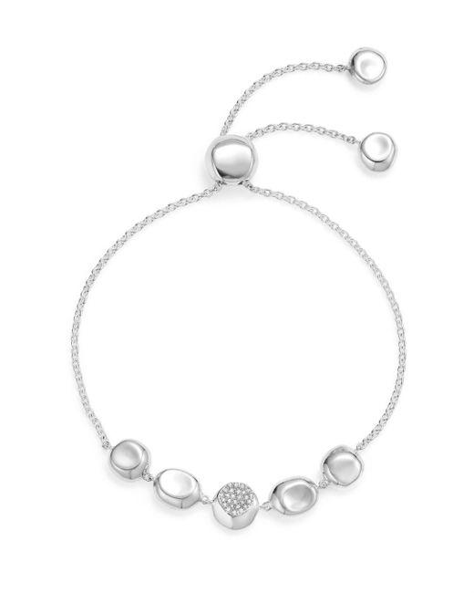 Ippolita - Metallic Sterling Silver Onda Pavé Diamond Chain Bracelet - Lyst