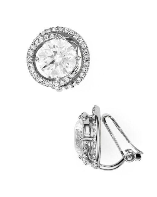 Nadri - Metallic Round Clip-on Earrings - Lyst