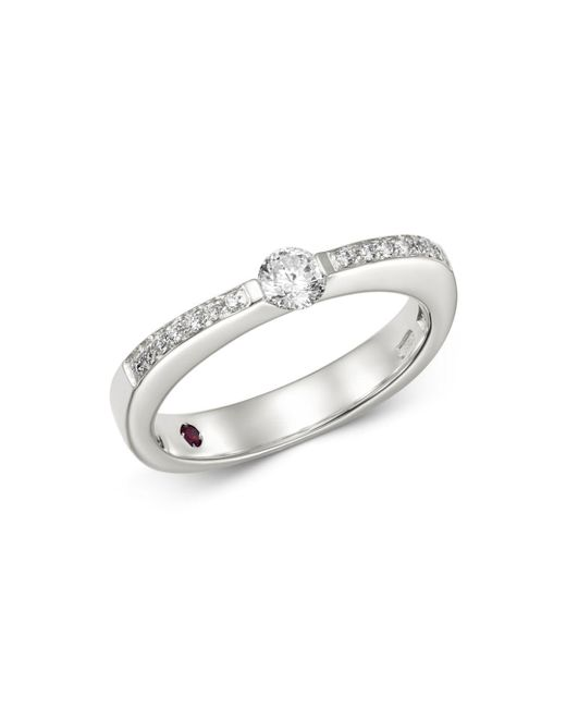 Roberto Coin - 18k White Gold Classica Pavé Diamond Ring - Lyst