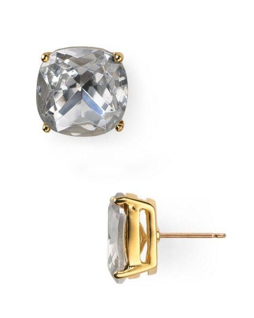 Kate Spade - Metallic Small Square Stud Earrings - Lyst