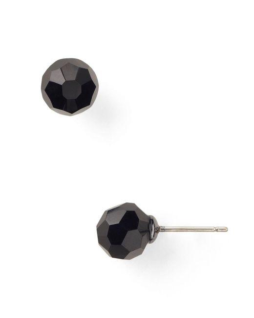 Carolee   Black Faceted Beaded Stud Earrings   Lyst