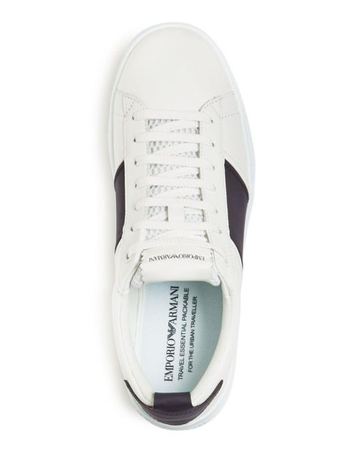 1f22f95e White Men's Leather Low - Top Sneakers