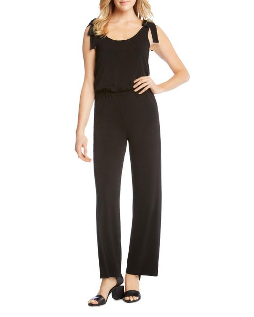 Karen Kane - Black Tie-shoulder Jumpsuit - Lyst