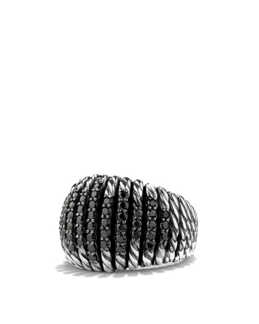 David Yurman | Metallic Tempo Ring With Black Spinel | Lyst