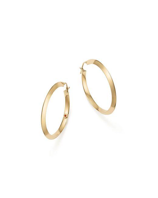 Roberto Coin - Metallic 18k Yellow Gold Oro Classic Hoop Earrings - Lyst