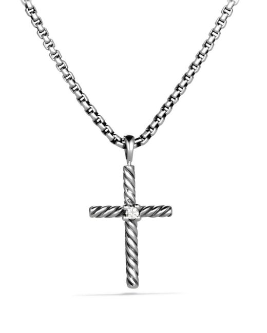 David Yurman - Metallic Cable Classics Cross With Diamond - Lyst