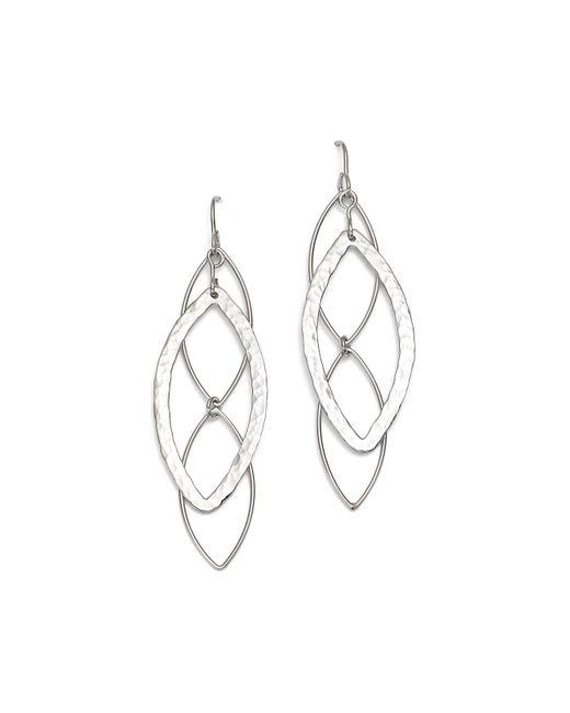 Bloomingdale's - Metallic Sterling Silver Hammered Marquise Drop Earrings - Lyst