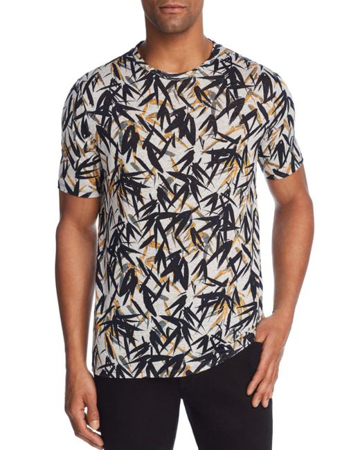 Theory - Black Pinal Jersey Print Tee for Men - Lyst