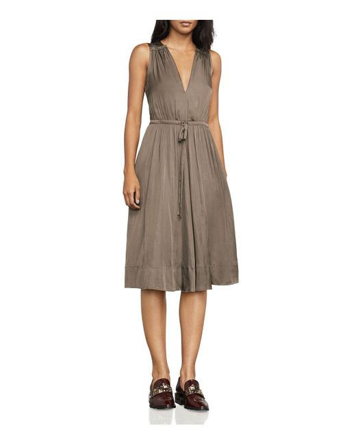 BCBGMAXAZRIA | Multicolor Katia Drawstring Satin Dress | Lyst