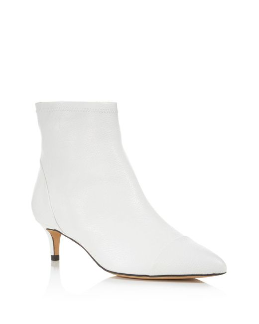 Rebecca Minkoff | White Siya Leather Pointed Toe Booties | Lyst