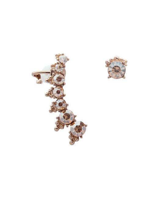 Marchesa | Metallic Mismatch Crawler Earrings | Lyst
