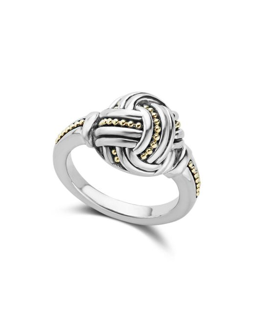 Lagos - Metallic 18k Gold & Sterling Silver Torsade Small Round Ring - Lyst