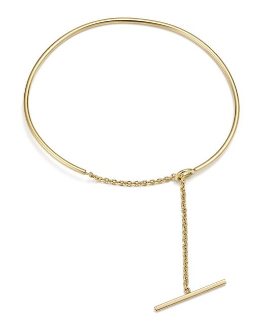 Zoe Chicco - Metallic 14k Yellow Gold Wire And Toggle Chain Cuff - Lyst
