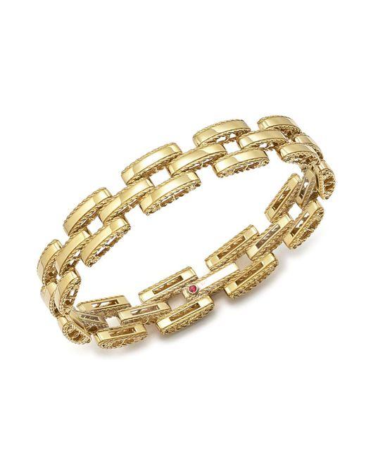 Roberto Coin | Metallic 18k Yellow Gold Retro Bracelet | Lyst