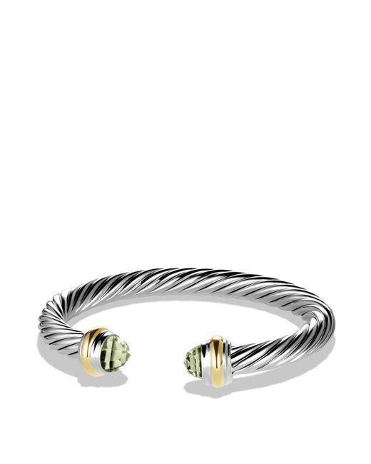 David Yurman - Metallic Cable Classics Bracelet With Prasiolite And Gold - Lyst