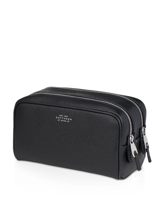 Smythson - Black Burlington Small Wash Bag for Men - Lyst