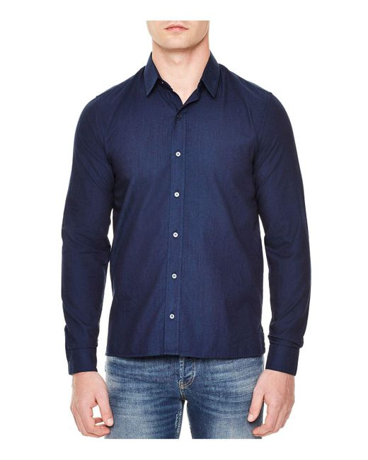 Sandro | Blue Indiana Slim Fit Button-down Shirt for Men | Lyst