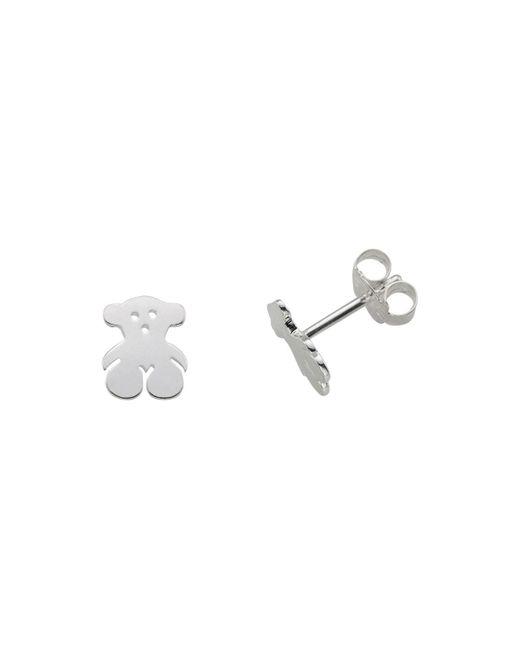 Tous - Metallic Sterling Silver Bear Stud Earrings - Lyst