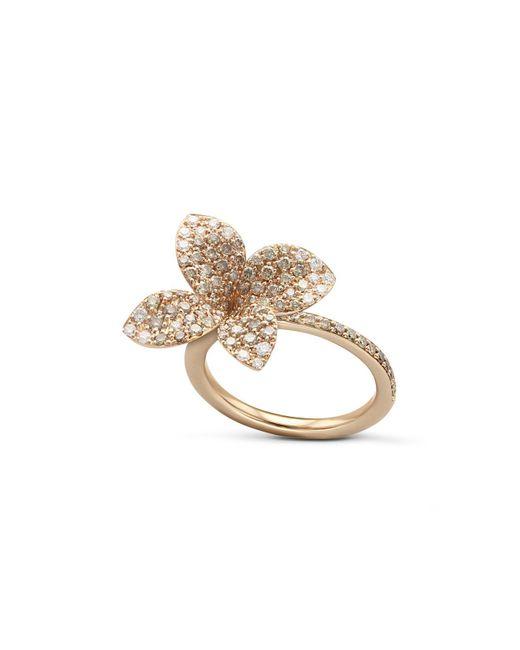 Pasquale Bruni - Metallic 18k Rose Gold Secret Garden Pavé Diamond Four Petal Flower Ring - Lyst