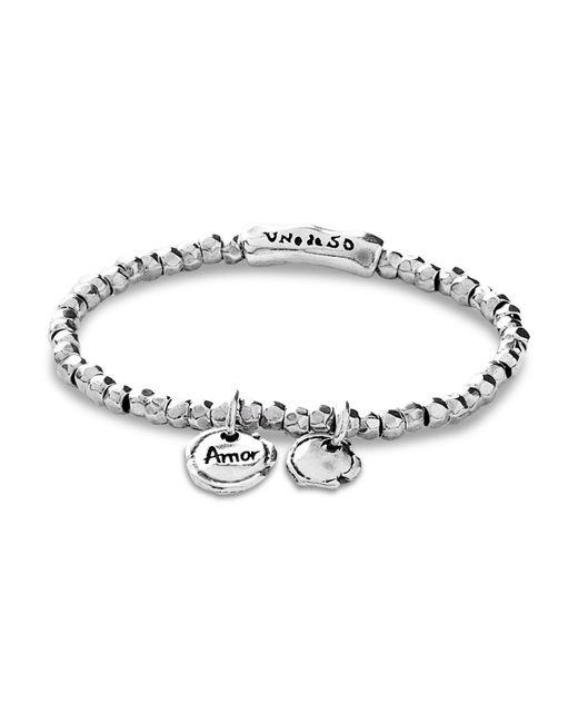 Uno De 50 - Metallic Sealed Love Bracelet - Lyst