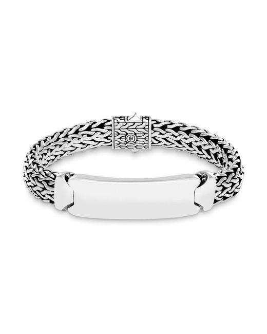 John Hardy | Metallic Sterling Silver Classic Chain Id Bracelet | Lyst