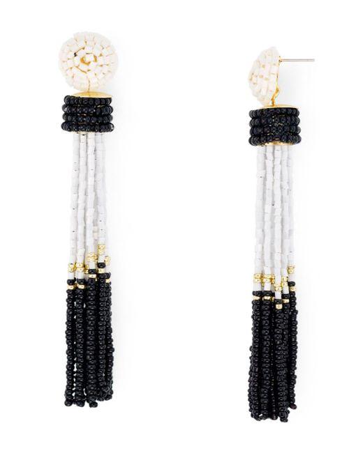 Aqua - Multicolor Tassel Earrings - Lyst
