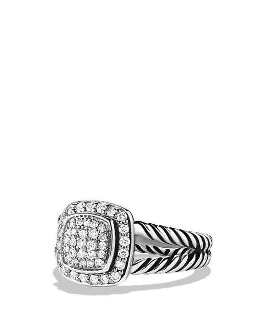 David Yurman - Metallic Petite Albion Ring With Diamonds - Lyst