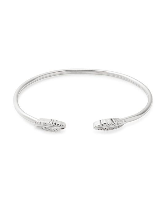 ALEX AND ANI - Metallic Feather Precious Cuff Bracelet - Lyst