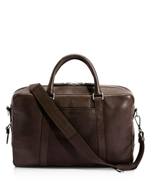 Shinola - Brown Slim Briefcase for Men - Lyst