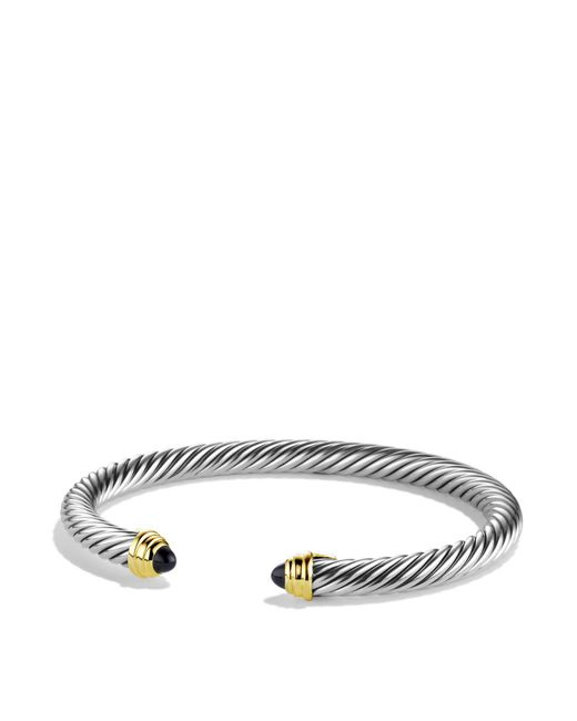 David Yurman | Cable Classics Bracelet With Black Onyx And Gold | Lyst