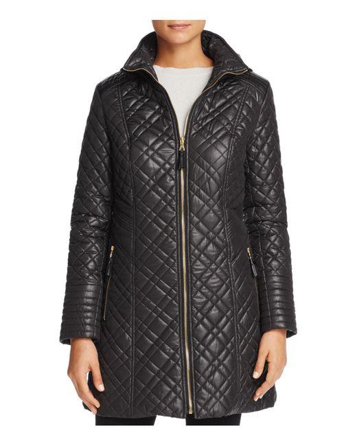 Via Spiga | Black Quilted Coat | Lyst