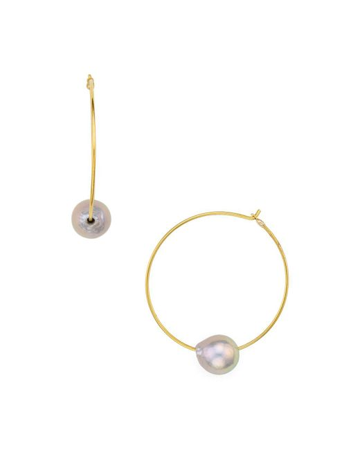 Chan Luu | Gray Hoop Earrings | Lyst