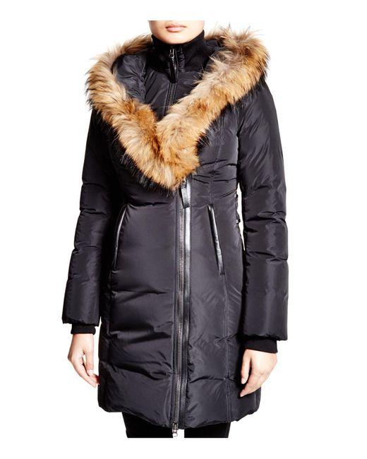 Mackage - Black Kay Lavish Fur Trim Down Coat - Lyst