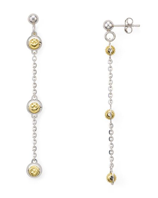 Officina Bernardi - Metallic Beaded Drop Earrings - Lyst