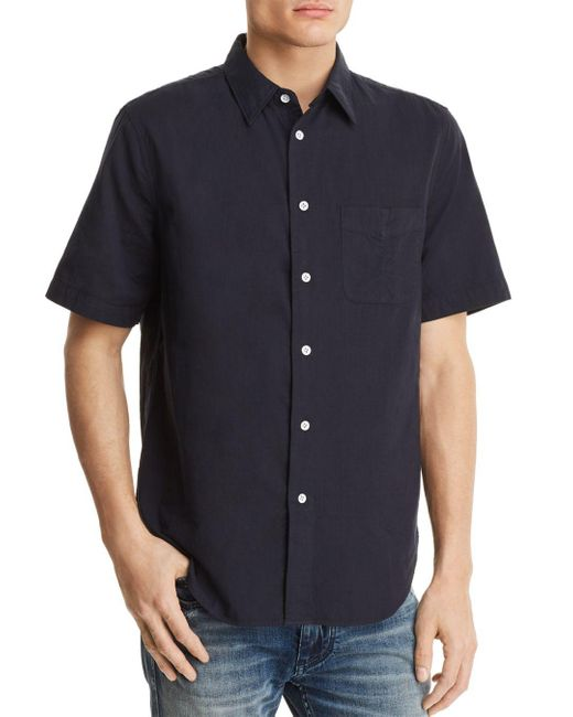 Rag & Bone - Blue Standard Issue Beach Regular Fit Button-down Shirt for Men - Lyst