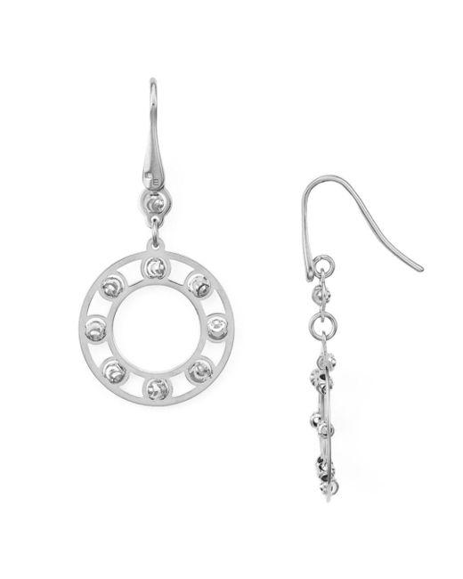 Officina Bernardi - Metallic Circle Drop Earrings - Lyst
