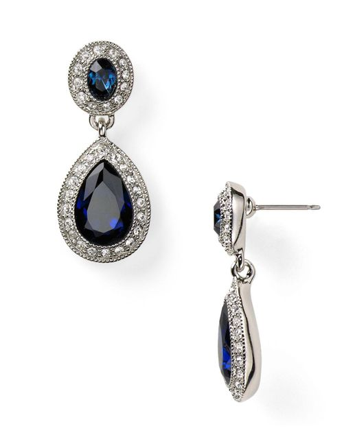 Carolee | Metallic Pave Stone Double Drop Earrings | Lyst