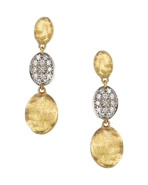 Marco Bicego - Metallic Diamond Siviglia Earrings In 18k Yellow Gold - Lyst