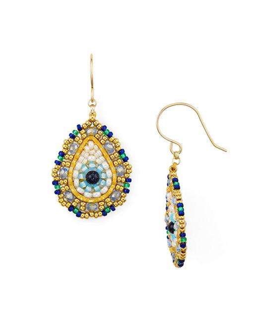Miguel Ases - Multicolor Single Teardrop Drop Earrings - Lyst