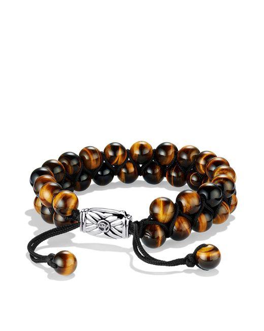 David Yurman | Metallic Spiritual Beads Two-row Bracelet With Tiger's Eye for Men | Lyst
