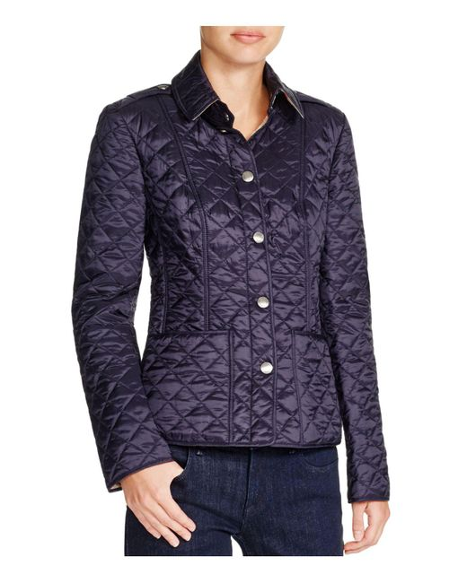 Burberry - Blue Kencott Quilted Jacket - Lyst