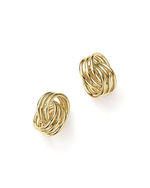 Bloomingdale's - Metallic 14k Yellow Gold Coil Knot Earrings - Lyst