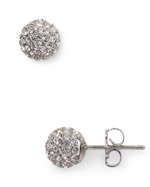 Nadri   Metallic Small Crystal Ball Earrings   Lyst
